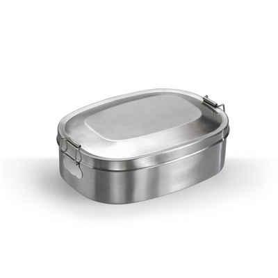 BigDean Lunchbox »12,5x16,5cm Edelstahl Proviantdose Brotzeitdose Vesperdose Frühstücksbox Brotdose«, Edelstahl, (1-tlg)