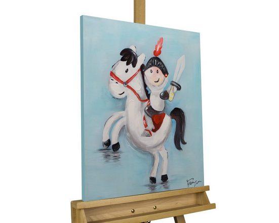 KUNSTLOFT Gemälde »Pony Tales«, handgemaltes Bild auf Leinwand