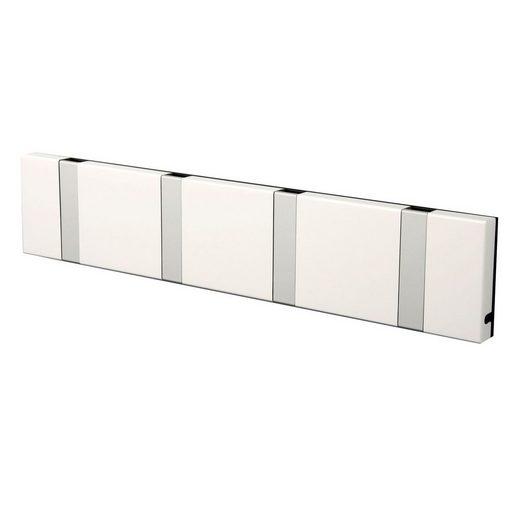 LoCa Garderobe »LoCa Garderobe Knax 4 weiß (Haken klappbar Alu)«