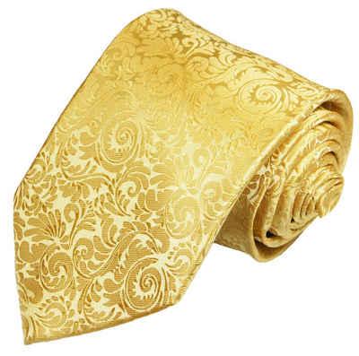 Paul Malone Krawatte »Herren Hochzeitskrawatte barock klassisch elegant - Mikrofaser - Bräutigam Hochzeitsmode« Breit (8cm), gold V97