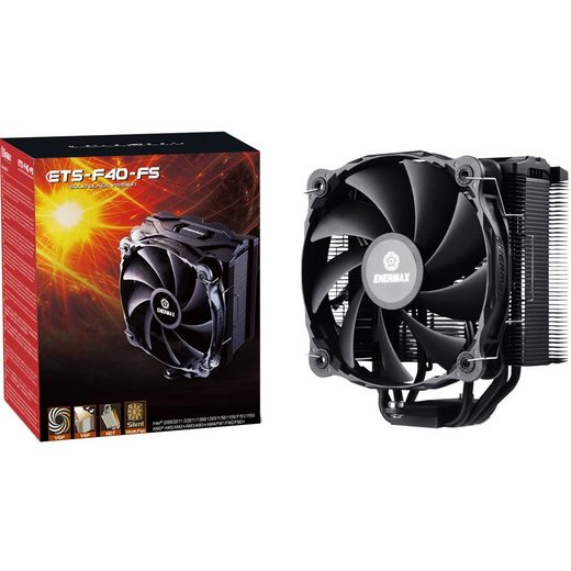 Enermax CPU Kühler »ETS-F40-FS-BK, Solid Black Version«