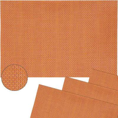 Platzset, »Tischsets ELEGANCE 4 Stk. orange Platzsets 45 cm«, matches21 HOME & HOBBY