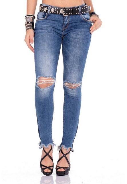 Hosen - Cipo Baxx Bequeme Jeans im Regular Fit Schnitt mit praktischem Gürtel › schwarz  - Onlineshop OTTO