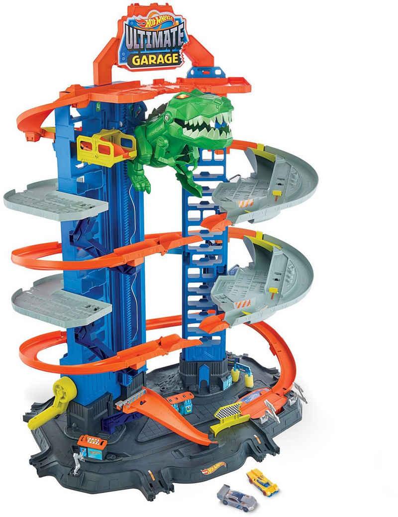 Hot Wheels Autorennbahn »Megacity Parkgarage mit T-Rex-Angriff«, inkl. 2 Spielautos