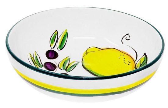 Lashuma Salatschüssel, Keramik, Runde Servierschüssel, Obstschale handgemacht
