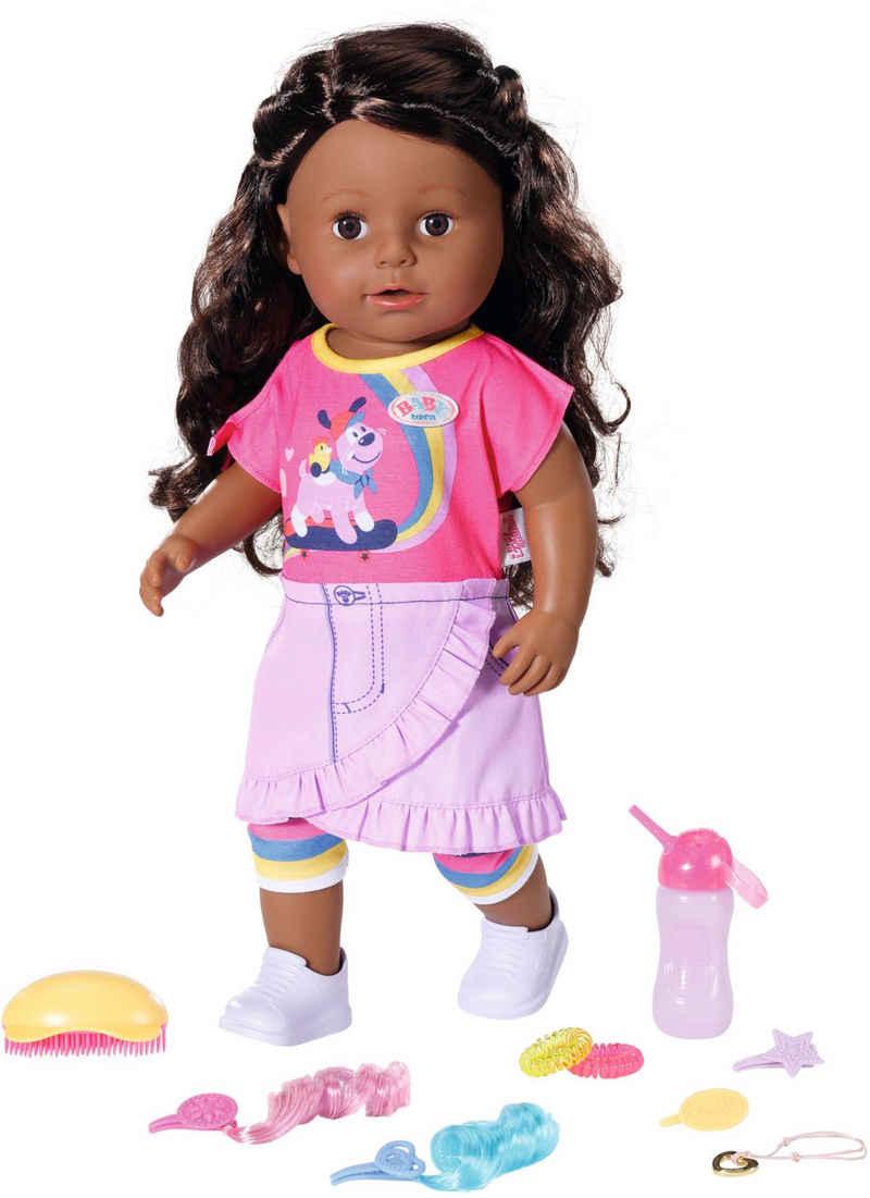 Baby Born Stehpuppe »Sister, Dolls of Colour, 43 cm«, mit lebensechten Funktionen
