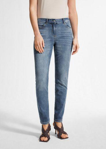 Comma 7/8-Jeans »Slim Fit: Slim ankle leg-Jeans« Waschung, Ziernaht