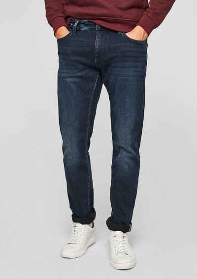 s.Oliver 5-Pocket-Jeans »Slim: Slim leg-Jeans« Waschung, Leder-Patch