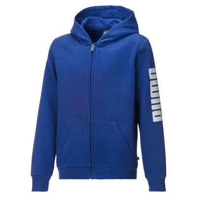 PUMA Sweater »Jungen Fleece Sweatjacke mit Kapuze«