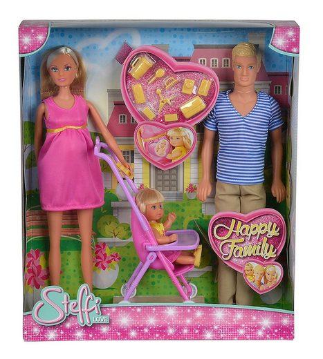 SIMBA Anziehpuppe »Steffi Love - 105733200 - Happy Family«