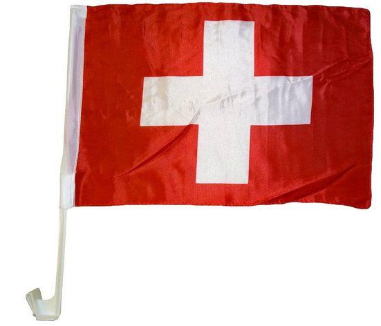 trends4cents Flagge »Autoflagge 30 x 40 cm Auto Flagge Fahne Autofahne Fensterflagge Fanfahne« (Schweiz), Autofahne