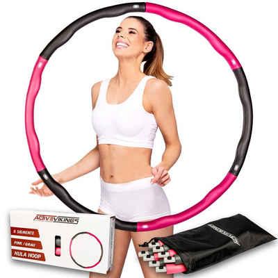 ActiveVikings Hula-Hoop-Reifen »ActiveVikings Hula Hoop Reifen Ideal für Fitness, Gewichtsreduktion und Massage, 6-8 Segmente Abnehmbar - Reifen für Erwachsene & Kinder«