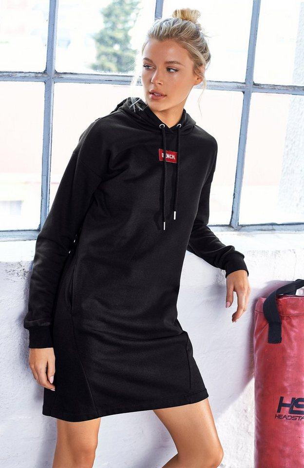 Bench. Sweatkleid »Bench Hooded Sweatdress« Logostickerei im Brustbereich online kaufen | OTTO
