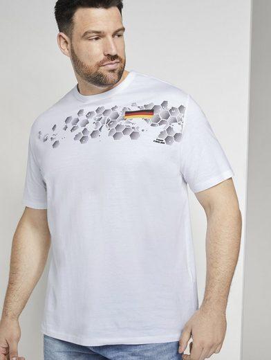 TOM TAILOR Men Plus T-Shirt »T-Shirt mit EM-Deutschland-Print«