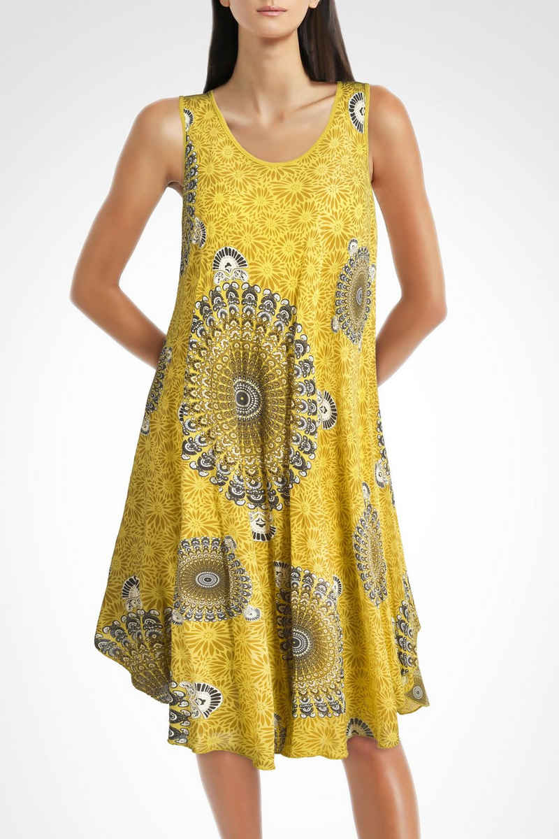 PEKIVESSA Strandkleid »Sommerkleid Damen große Größen« ärmellos in A-Linie