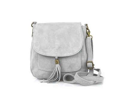 ITALYSHOP24 Schultertasche »Made in Italy Damen Leder Tasche CrossOver«, als Schultertasche, CrossBody, Umhängetasche tragbar