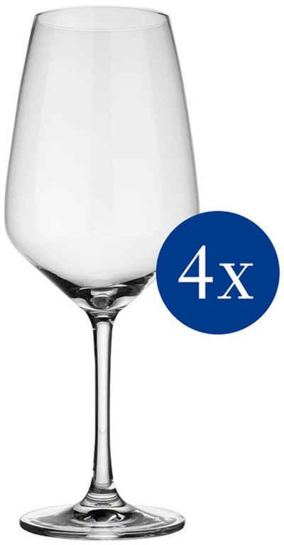 vivo Villeroy & Boch Group Rotweinglas »Voice Basic«, Kristallglas, 4-teilig