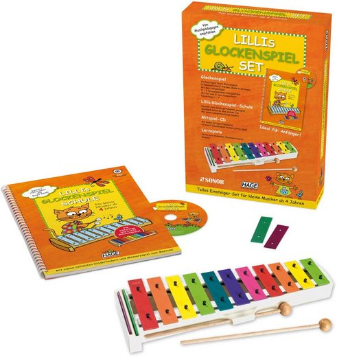 Hage Glockenspiel »Lillis Glockenspiel«, (Set), ; Made in Germany
