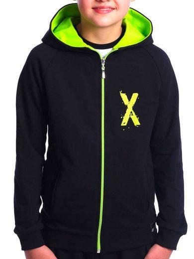 BEZLIT Kapuzensweatshirt »Jungen Sweatjacke mit Rücken Print« (1-tlg) Sweatshirt mit Kapuze Kängurutasche Hoodie mit Print