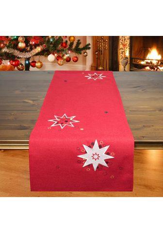 Delindo Lifestyle Tischläufer »Weihnachtssterne« (1-tlg)...