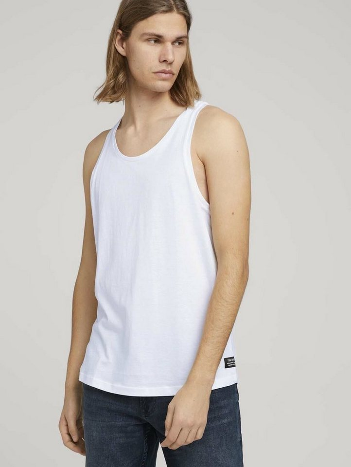 tom tailor denim -  Kurzarmshirt »Tanktop im Doppelpack«