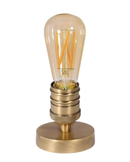 Licht-Erlebnisse Schreibtischlampe »LIGHT BULB«, Kleine Tischlampe Messing E27 H:10,5cm Premium Industrial Wohnzimmer