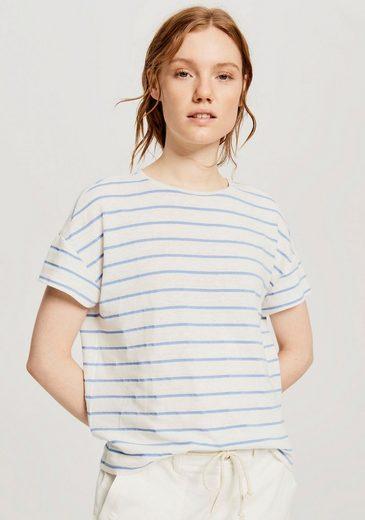 OPUS T-Shirt »Sileika« mit Kellerfalte