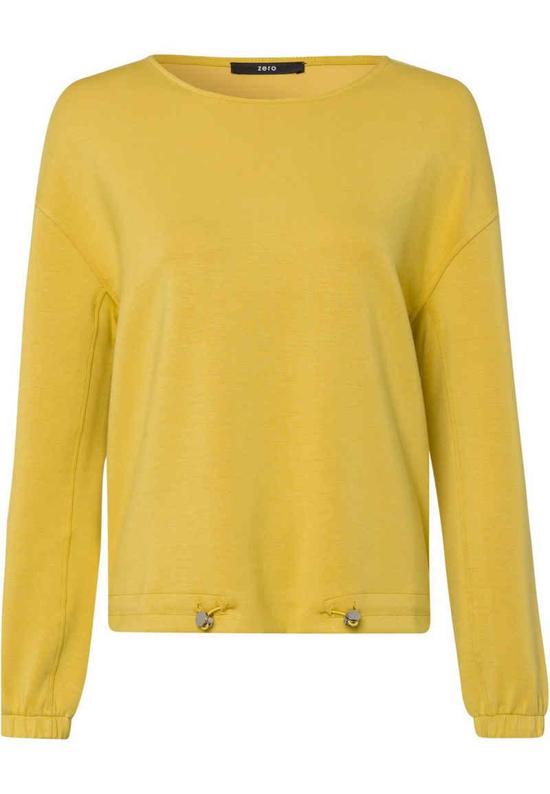 Zero Sweatshirt »mit Tunnelzug« drapiert /gerafft