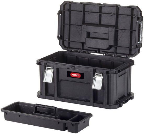 Keter Werkzeugbox »Connect«, extra breit, herausnehmbarer Einsatz, Stapelverriegelung, Metallverschlüsse