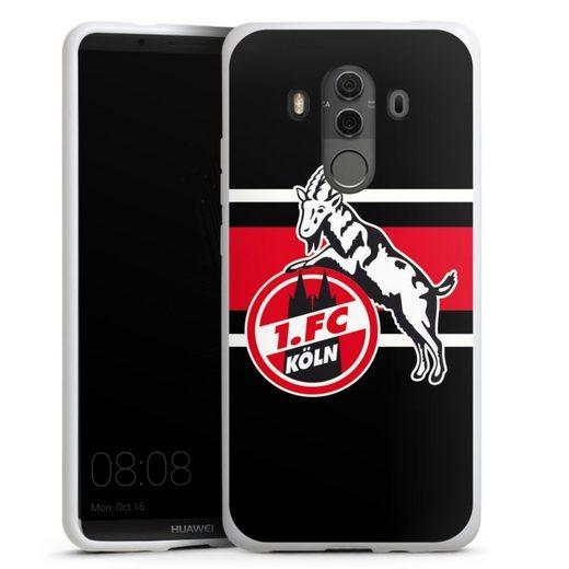 DeinDesign Handyhülle »Colour Stripes 1.FC« Huawei Mate 10 Pro, Hülle 1. FC Köln Offizielles Lizenzprodukt Fußball