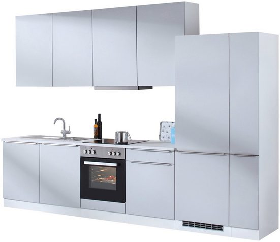HELD MÖBEL Küchenzeile »Cannes«, mit E-Geräten, Breite 330 cm