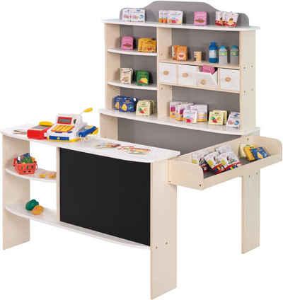 roba® Kaufladen »Verkaufsstand weiß/grau«, inklusive Kaufladenzubehör
