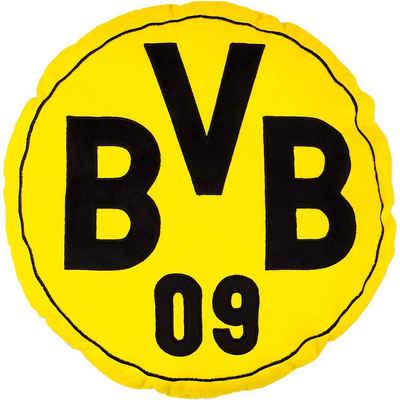 Borussia Dortmund Dekokissen »Kissen BVB, rund, gelb, 42 cm«