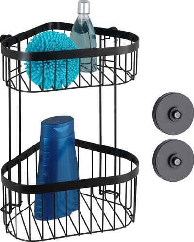 WENKO Eckregal »Vacuum-Loc® Classic Plus Black«, 1-tlg., Befestigung ohne Bohren