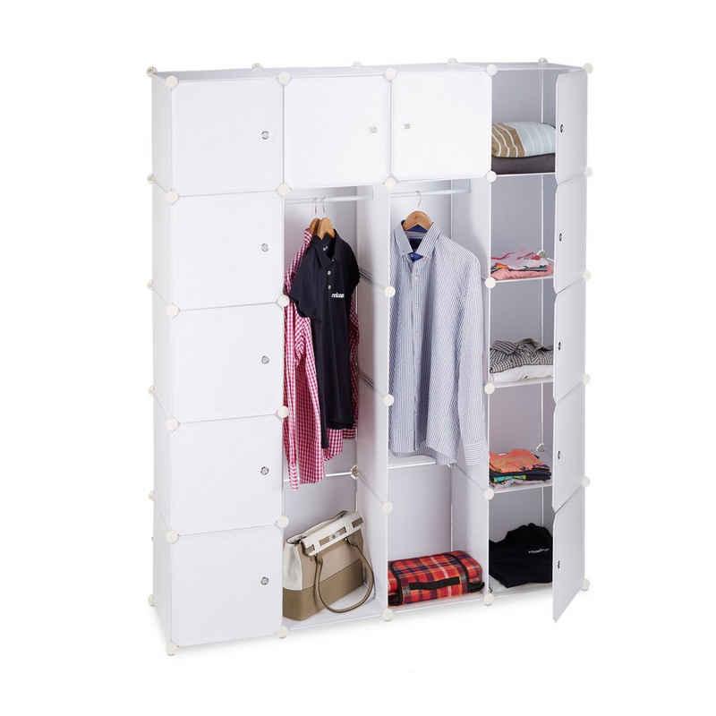 relaxdays Kleiderschrank »Kleiderschrank Stecksystem 14 Fächer«