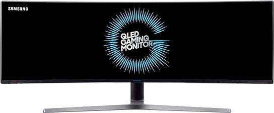 "Samsung Odyssey C49HG90DMR Curved-Gaming-Monitor (124 cm/49 "", 3840 x 1080 Pixel, 4K Ultra HD, 1 ms Reaktionszeit, 144 Hz, QLED)"