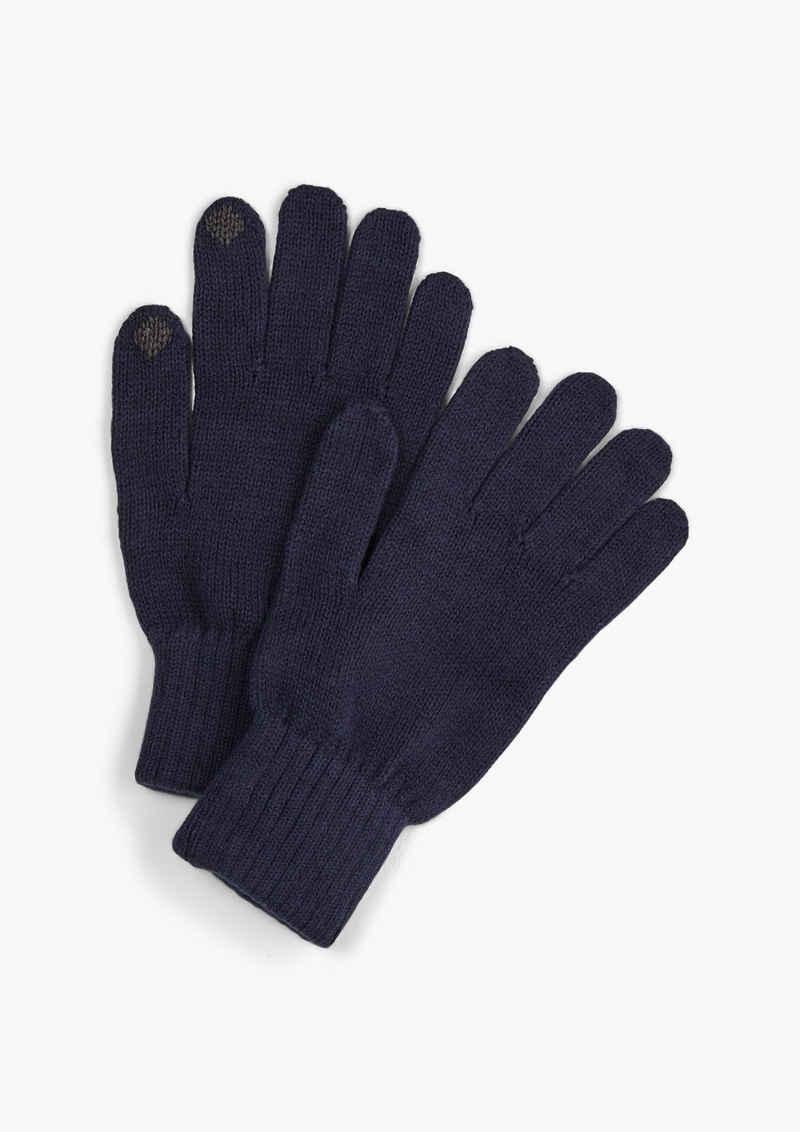 s.Oliver Strickhandschuhe »Touchscreen-fähige Handschuhe« Rippbündchen