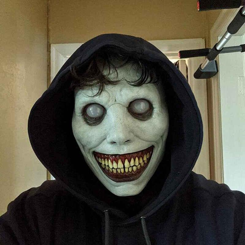 JI-ROC Clown-Kostüm »Halloween Masken Horror Gruselige Halloween Maske-Lächelnder Dämon, Gruseliger Clown Cosplay Halloween Dämon LED Maske«