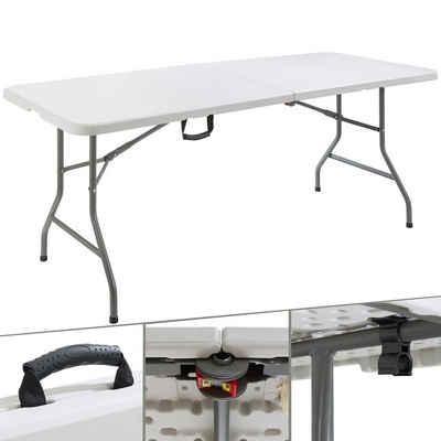 Arebos Klapptisch »Buffettisch Campingtisch Partytisch Klapptisch Gartentisch für Garten Terrasse und Balkon zusammenklappbar«, Breite 180 cm