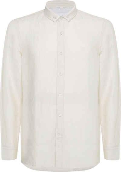 Calvin Klein Langarmhemd »SLIM FIT COTTON LINEN SHIRT«