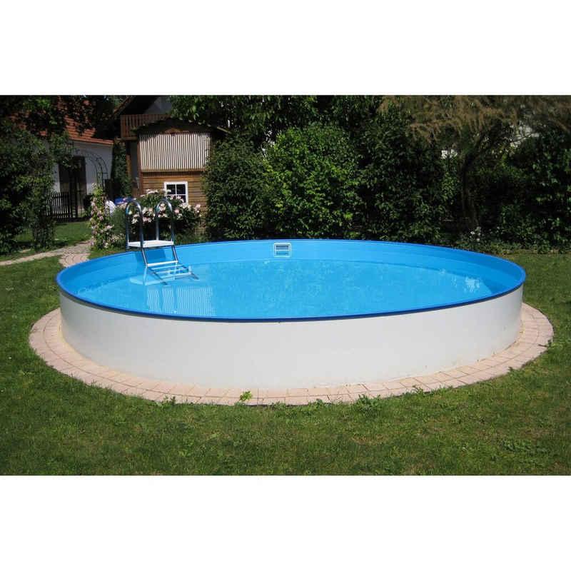 Planet Pool Rundpool »Planet Pool Rundbecken Exklusiv Ø 300x120cm (SW:0,«