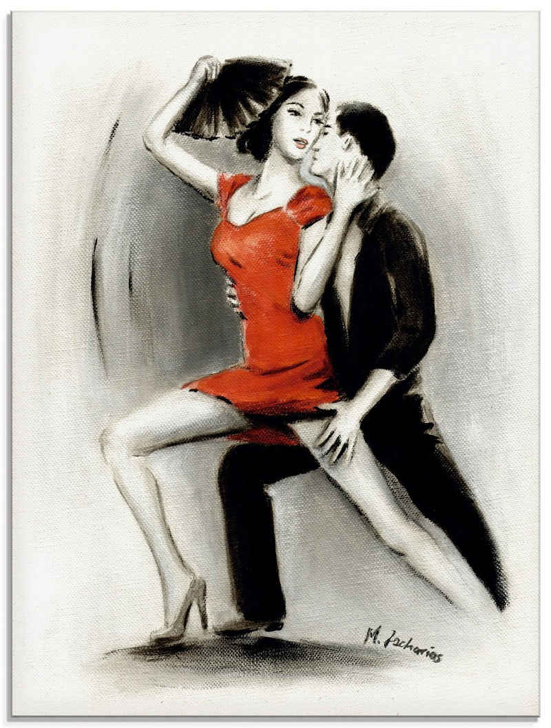 Artland Glasbild »Leidenschaftliches Tanzpaar«, Menschen (1 Stück)
