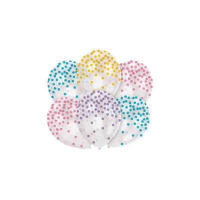 Amscan Luftballon »Luftballon Konfetti-Pastell, 6 Stück«