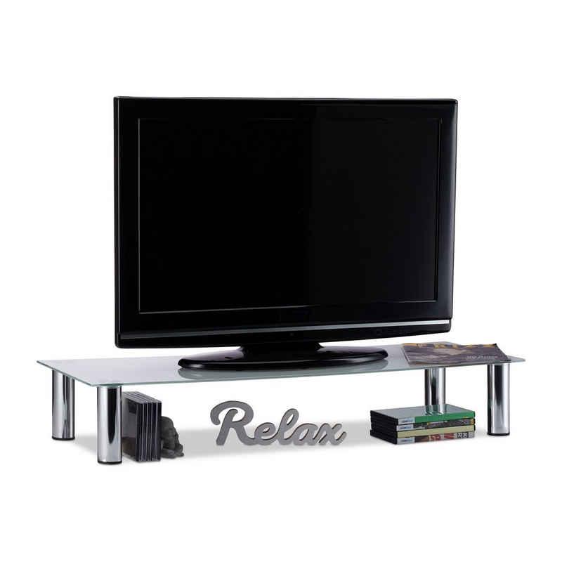 relaxdays TV-Regal »TV-Tisch Glas«