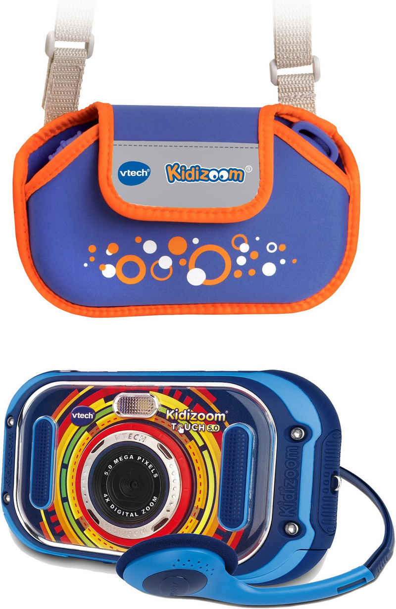 Vtech® »KidiZoom Touch 5.0, blau« Kinderkamera (5 MP, inklusive Tragetasche)