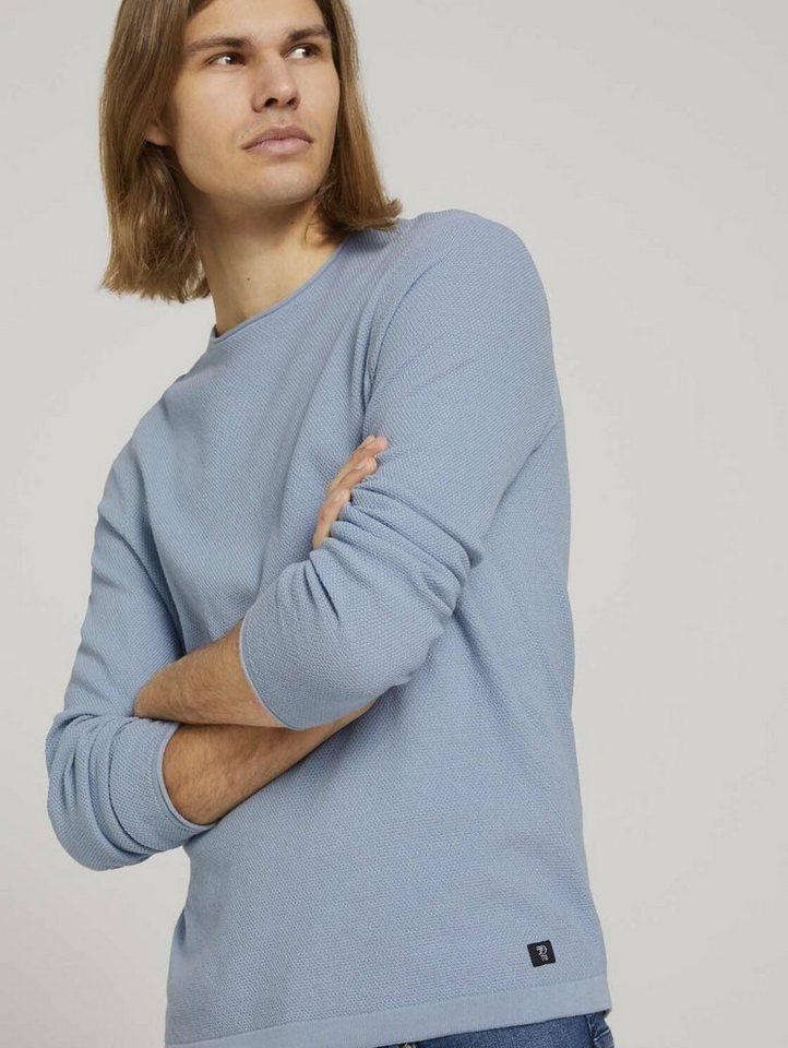 tom tailor denim -  Strickpullover »strukturierter Pullover«