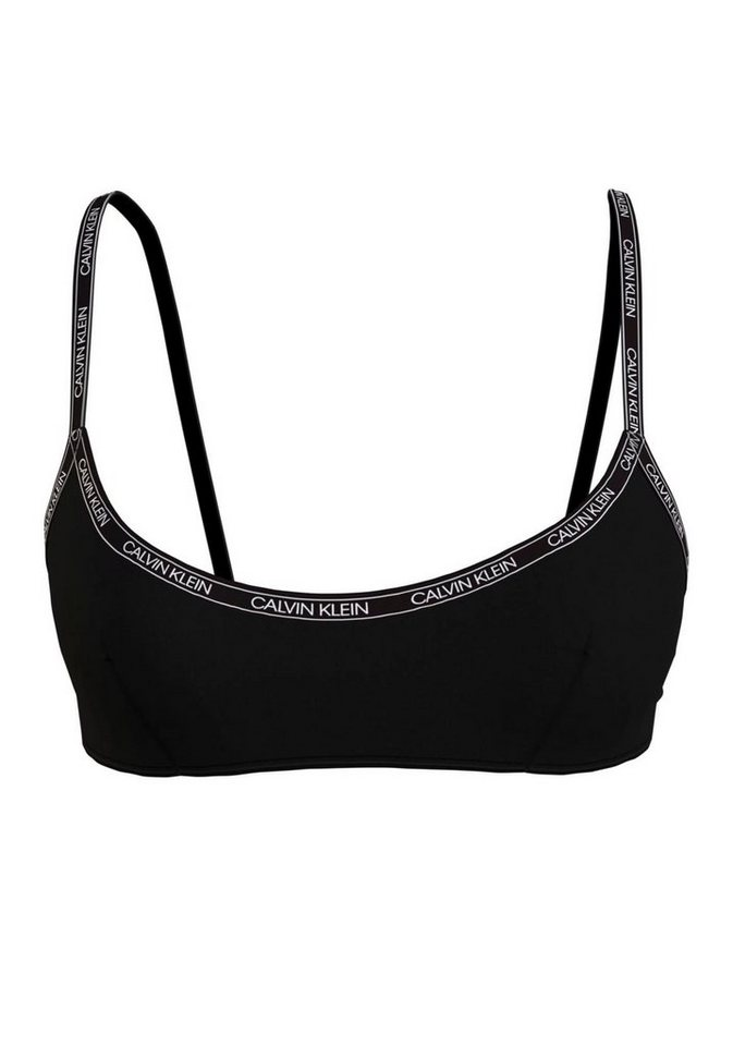Bademode - Calvin Klein Bustier Bikini Top, im schlichten Design › schwarz  - Onlineshop OTTO