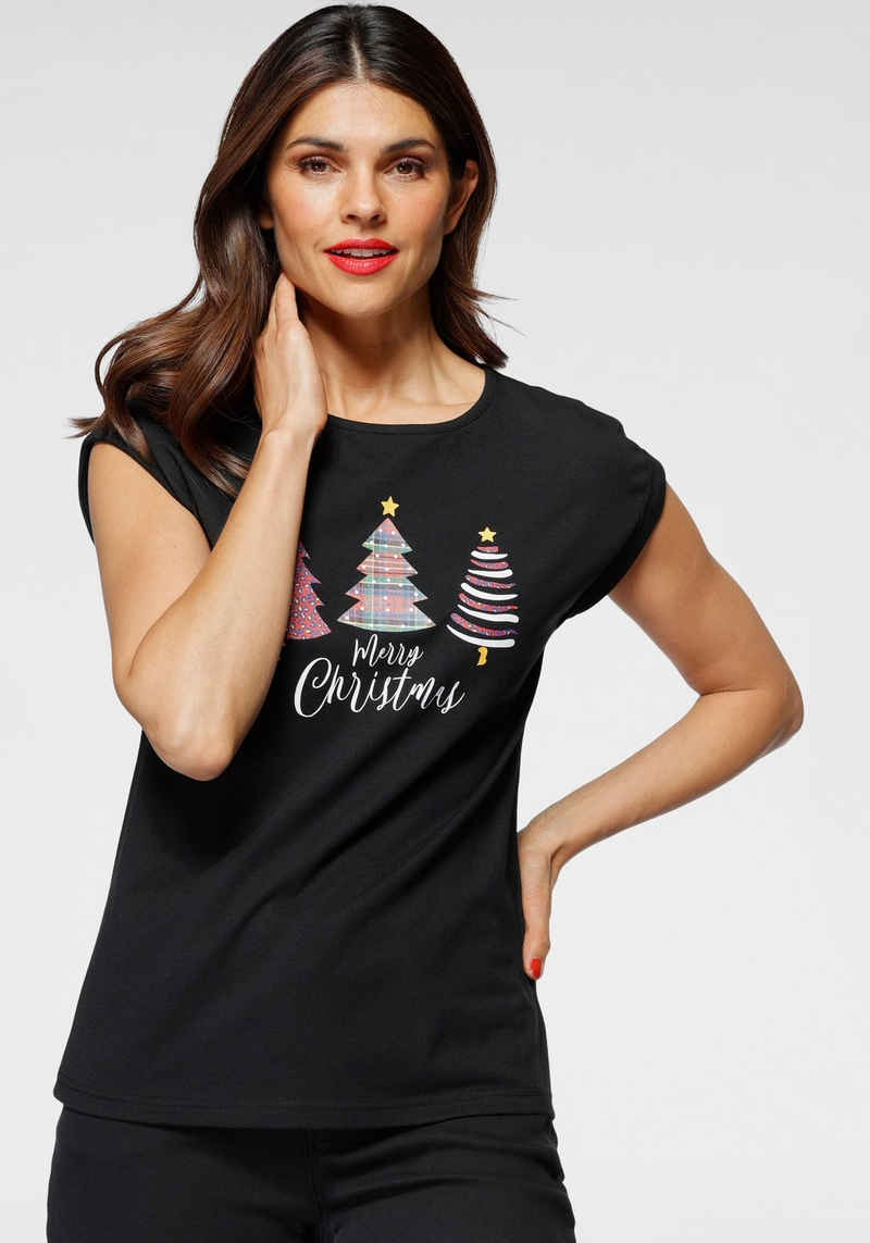 "Boysen's T-Shirt Weihnachtsmotiv ""Tannenbäume"" - NEUE KOLLEKTION"