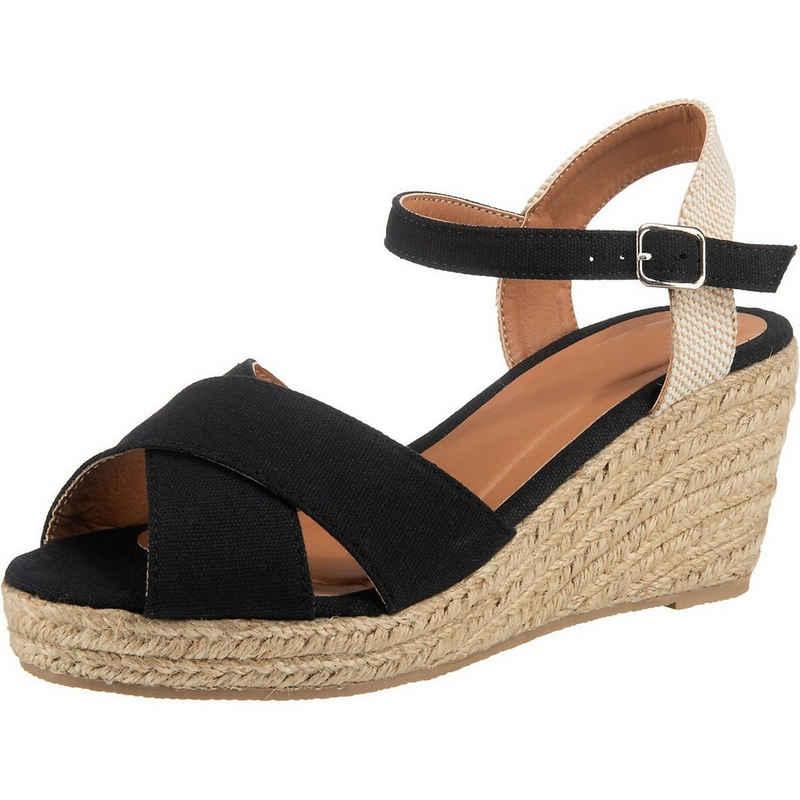 ambellis »Peeptoe-Sandalette mit Keilabsatz« Keilsandalette