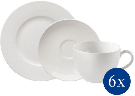 vivo Villeroy & Boch Group Kaffeeservice »Basic White« (18-tlg), Porzellan, klassisch und zeitlos